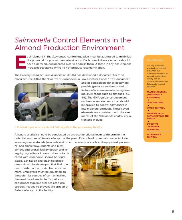 Control Of Salmonella In Low Moisture Foods