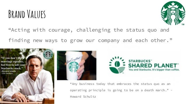 how howard schultz inspires the employees as well as customers Howard's groundbreaking initiatives through starbucks and the schultz family foundation have extended employment and educational opportunities to hundreds of thousands of partners (starbucks employees) as well as people outside the company.