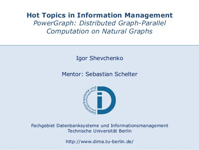 22.06.2015 DIMA – TU Berlin 1 Fachgebiet Datenbanksysteme und Informationsmanagement Technische Universität Berlin http://...