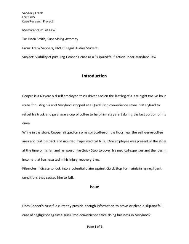Sanders Case Research Project - Final