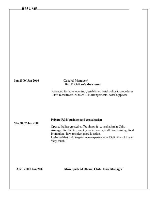 Ausgezeichnet Lebenslauf Für Hotel General Manager Bilder ...
