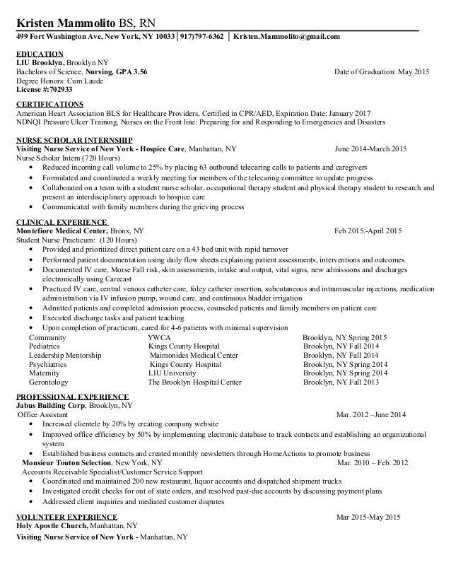 Kristen A Mammolito Resume 7282015