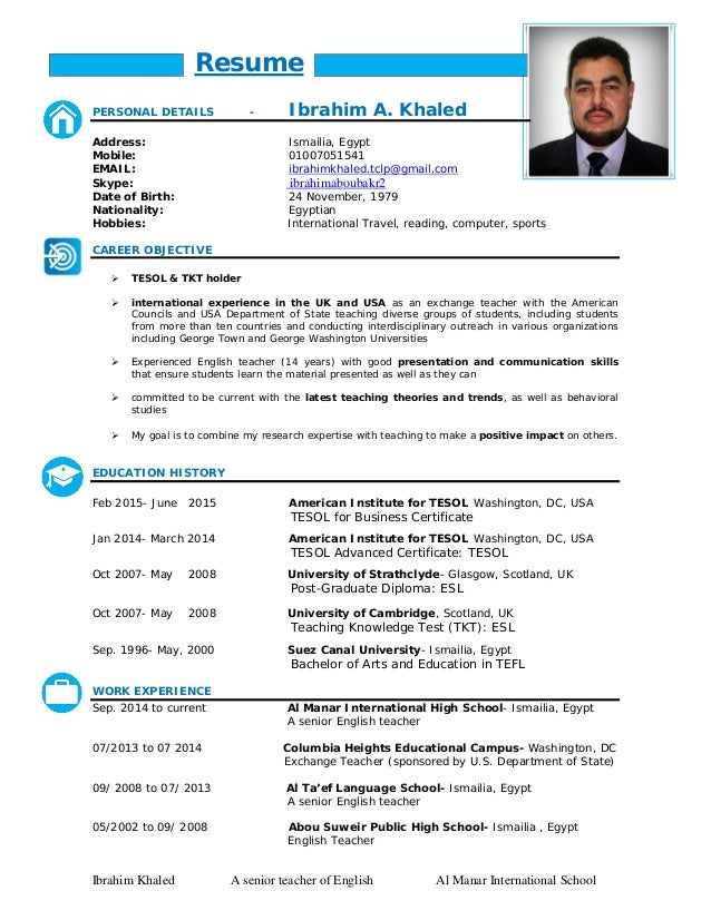 ibrahim khaled resume
