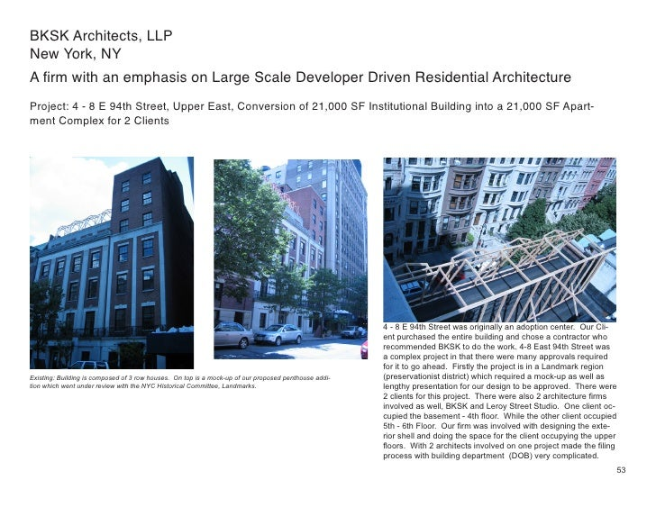 BKSK Architects, LLP New York, NY A firm with an emphasis on Large Scale Developer Driven Residential Architecture Project...