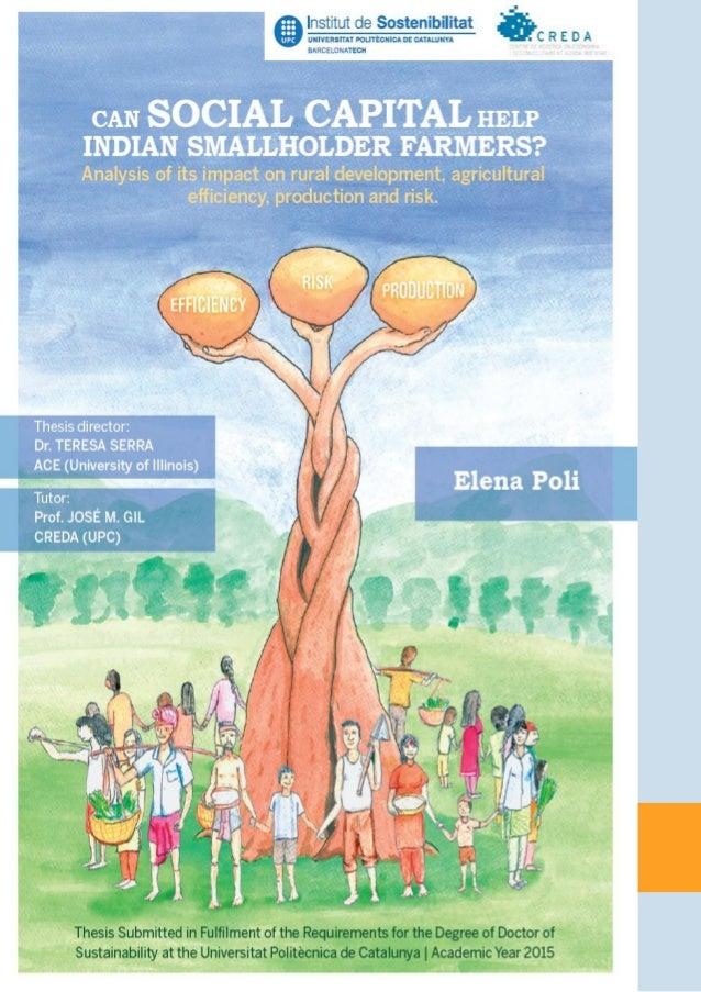 ¿PuedeelCapitalSocialayudaralospequeñosagricultoresdelaIndia? 1 RESUMEN Esta tesis doctoral busca soluciones sostenibles a...