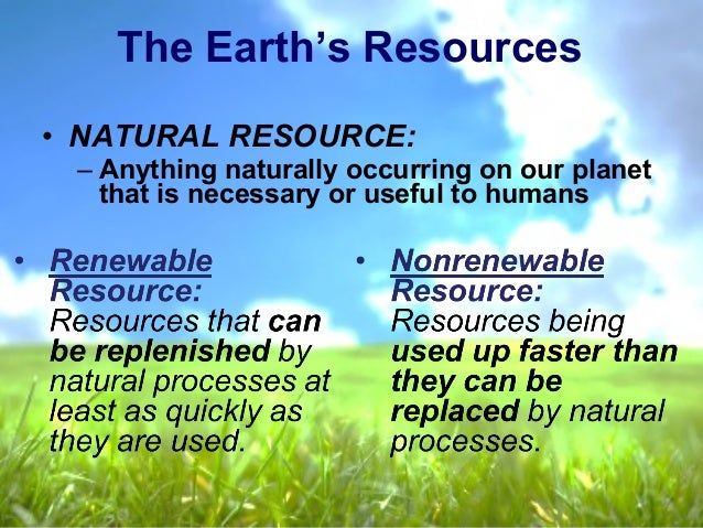 Is Oil A Renewable Natural Resource