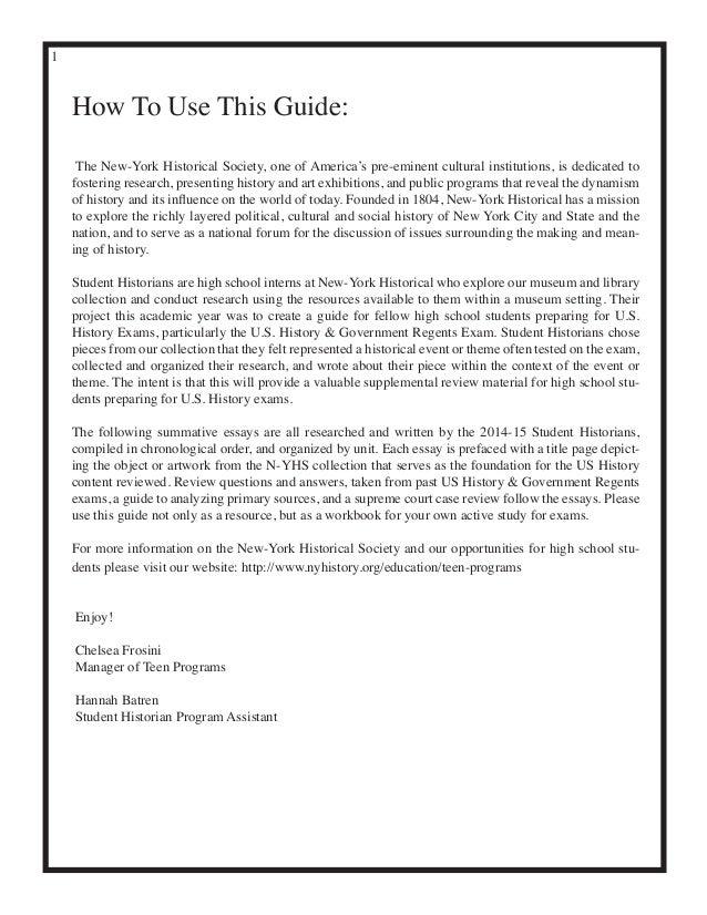 US History Regents Review Catalog 2014-15 Slide 2