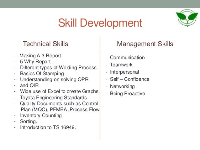 skill development technical - Different Types Of Technical Skills