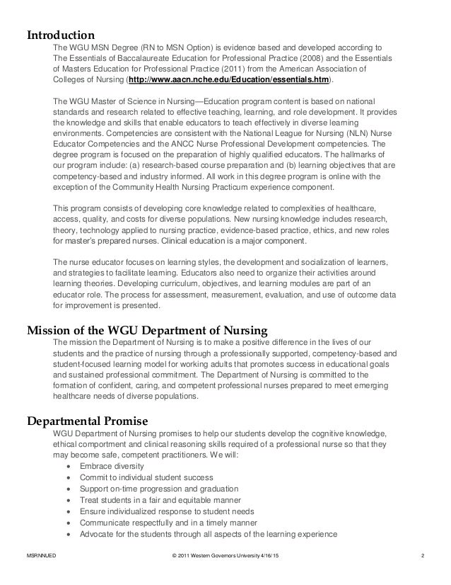 western governors university evidence based practice and applied nursing research 1 task 3