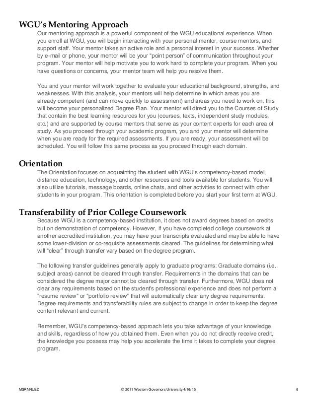 western governors university 4 essay Western governors university overview an essay, or another practical demonstration of a required skill therefore, assessments come in.