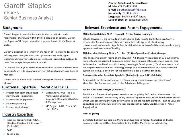 Gareth Staples CV-Overview