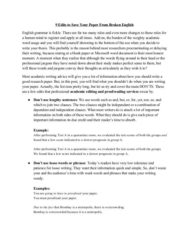 Synthesis Essay  Edits To Save Your Paper From Broken English   Jpg Cb   Sample Essay Paper also English As A Global Language Essay Paper Words  Underfontanacountryinncom Environmental Science Essay