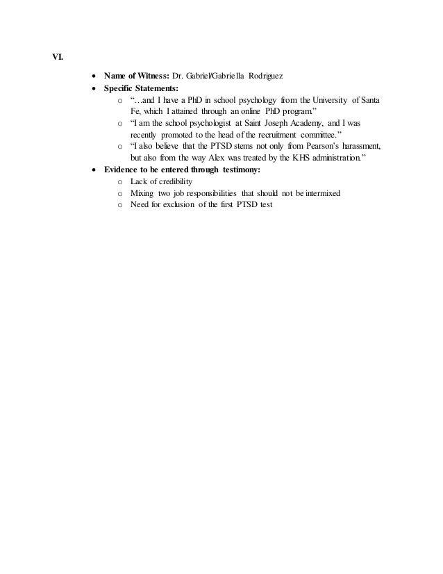 POLS 243 WITNESS CHECKLIST Slide 3