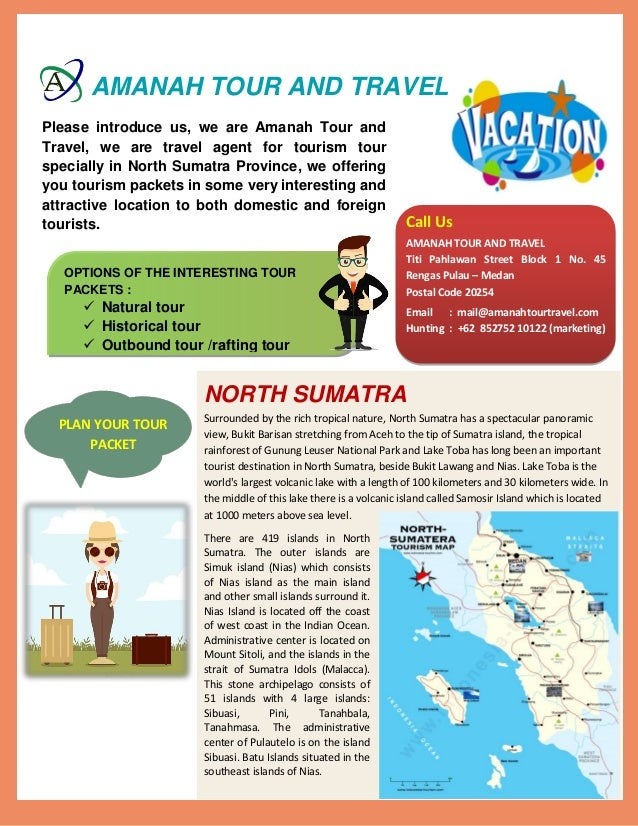 Travel agent for tourism in North Sumatra