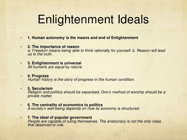 Enlightenment Ideals