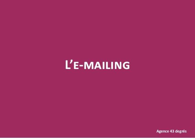 L'e-mailing Agence 43 degrés