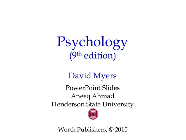 Chapter 5 development part two psychology (9th edition) david.