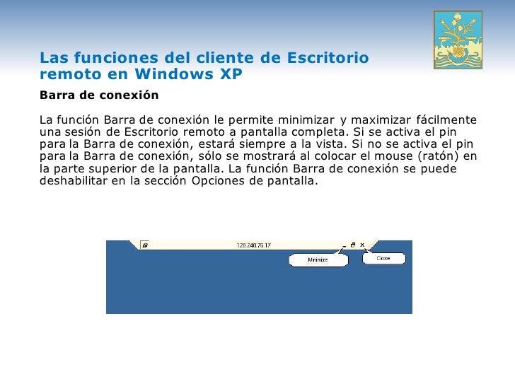 9 escritorio remotoasoitsonp - Conexion a escritorio remoto windows xp ...
