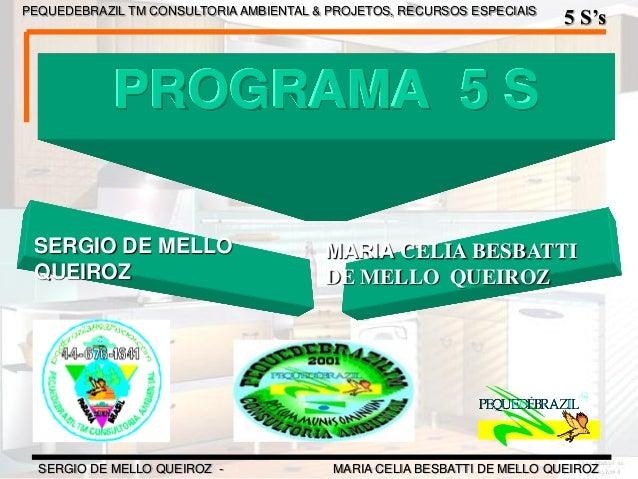 PEQUEDEBRAZIL TM CONSULTORIA AMBIENTAL & PROJETOS, RECURSOS ESPECIAIS 5 S's SERGIO DE MELLO QUEIROZ - MARIA CELIA BESBATTI...