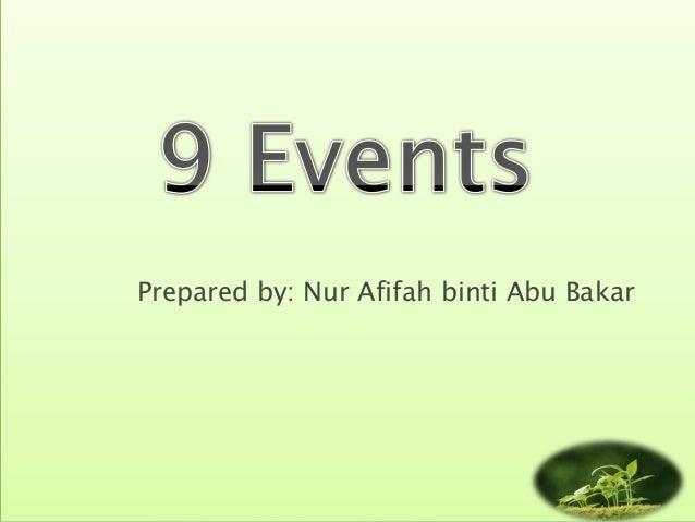 Prepared by: Nur Afifah binti Abu Bakar