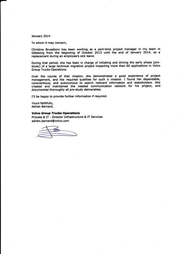 reference letter adrien bernard