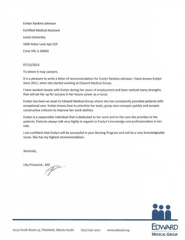 Dr Lilia Protaziuk Letter Of Recommendation