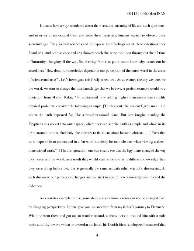 Accepted and discarded knowledge essay