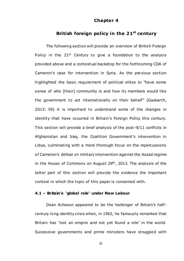 British foreign policy dissertation resume cover letter employment agency
