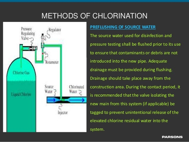 Disinfection and Chlorination of Potable Water Lines