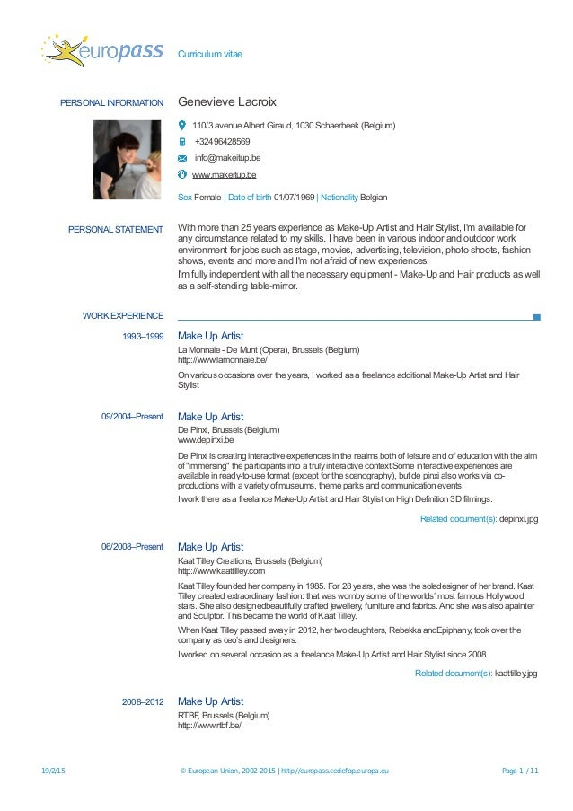 europcvesp20150219lacroixen-1-638 Resume Example For Internship on resume examples no experience, resume format for internships, resume examples 2014, letters for internships, resume examples reference section, cv resume for internships, resume objective statement internship example, resume examples word, resume examples medical field, resume examples volunteer experience, resume with internship experience examples, resume examples to print, resume templates for internships, resume examples quality assurance, resume examples pdf, resume career statement examples, personal statement examples for internships, resume examples sales positions, resume examples jobs,