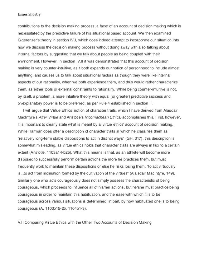 virtue ethics 18 essay Virtue ethics virtue ethics great thinkers throughout history like aristotle, confucius, and benjamin franklin have each explored the nature of and path to virtue.
