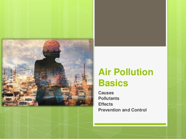 Air Pollution Basics Causes Pollutants Effects Prevention and Control