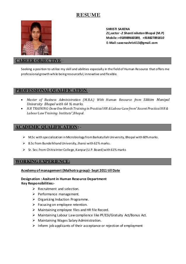 shristi resume 2015 2