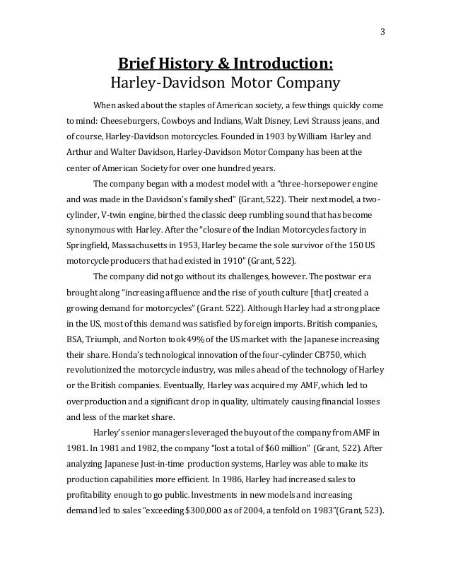 Harley-Davidson Case Analysis