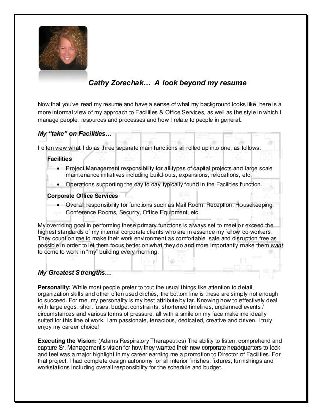 Cathy Zorechak A Look Beyond My Resume
