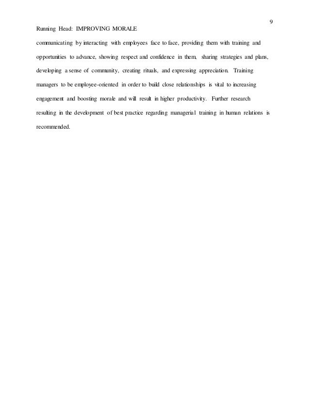 Employee Morale Essays (Examples)