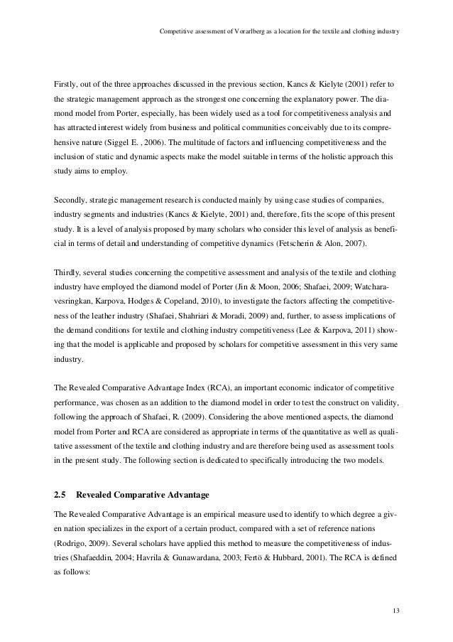 Porters diamond model analysis of textile sector of pakistan