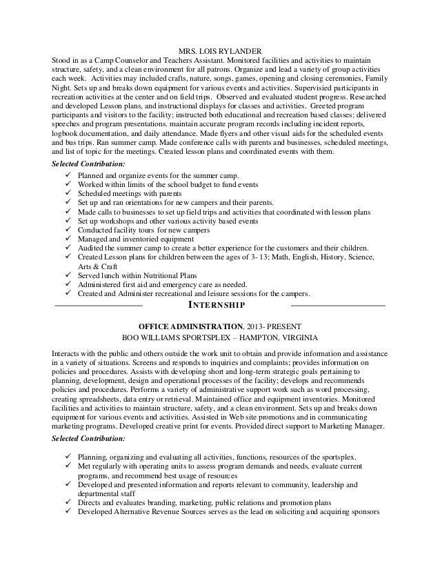 SlideShare  Facilities Management Resume