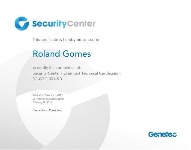 Sc Otc 001 53 Certificate