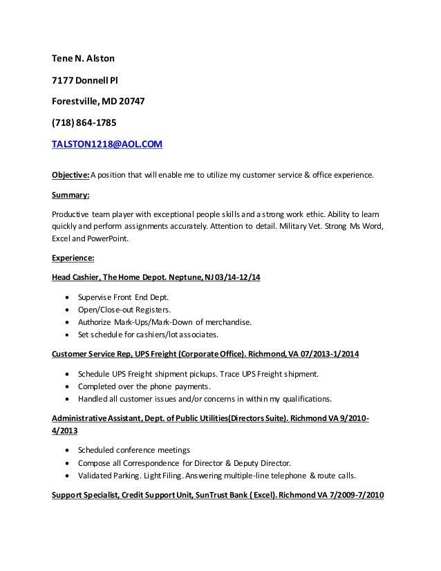 Tene Alston Resume!!!!