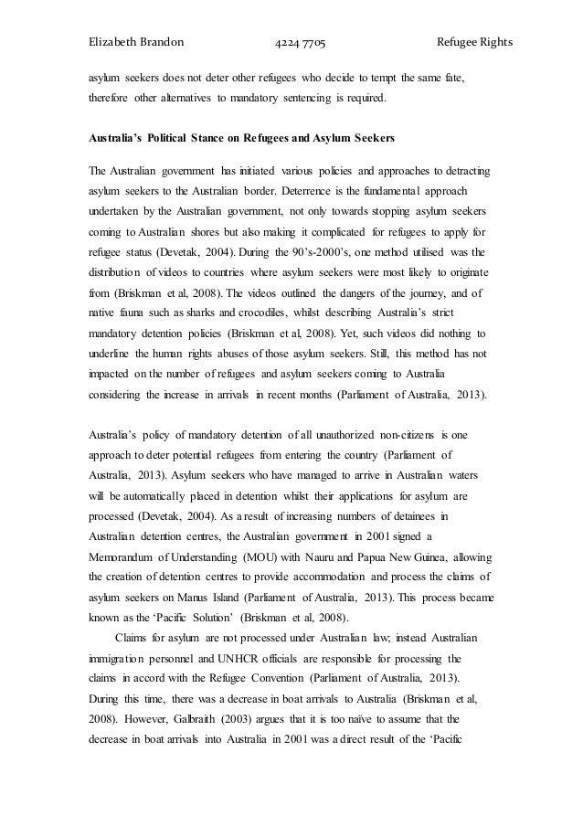 Essay on refugee problems