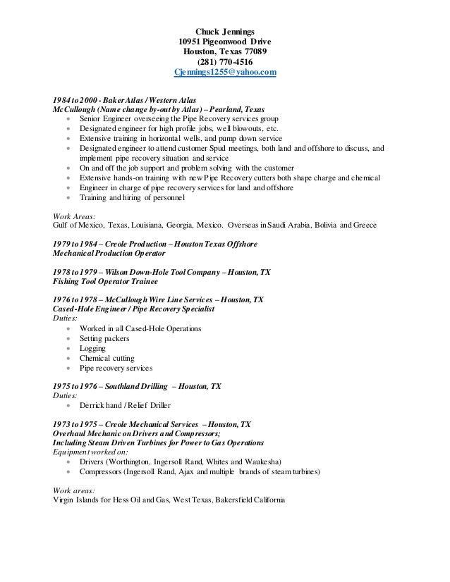 Chuck Jennings Resume 7-30-2015 New Resume