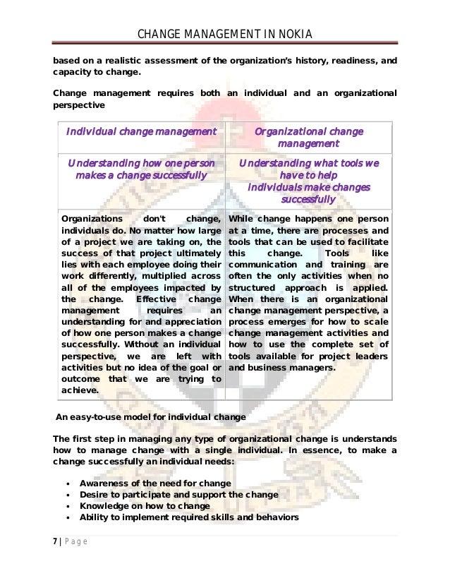change management case study nokia pdf