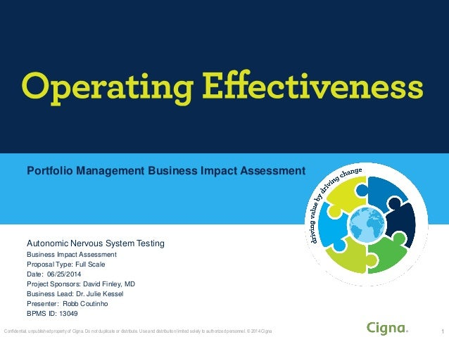 Portfolio Management Business Impact Assessment Autonomic Nervous System Testing Business Impact Assessment Proposal Type:...