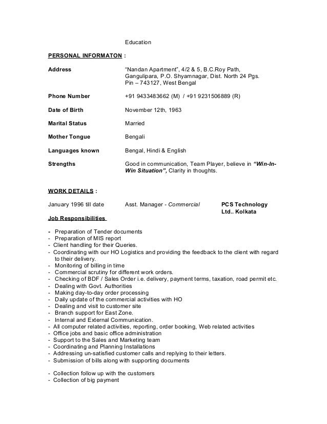 address with apartment number on resume