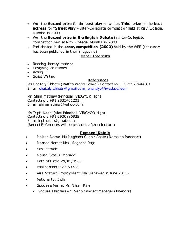 Married maiden name resume online development projects