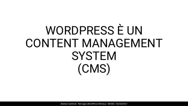 TASSONOMIE PERSONALIZZATE Andrea Cardinali - Romagna WordPress Meetup - S03E01- 03/10/2017