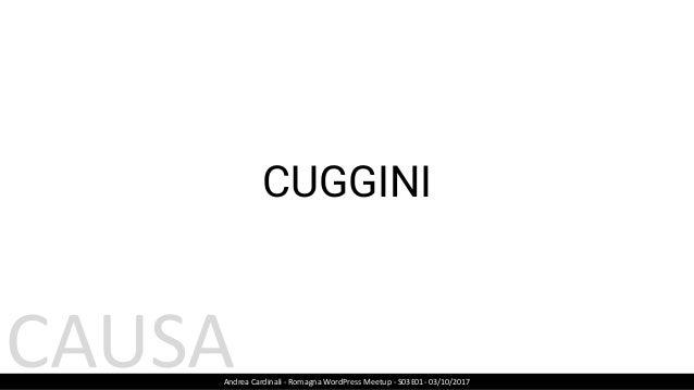 CODICE OTTIMIZZATO Andrea Cardinali - Romagna WordPress Meetup - S03E01- 03/10/2017