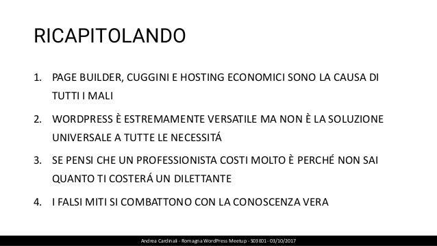 WordPress - 9 Falsi miti smascherati - Andrea Cardinali - WordPress Romagna Meetup S03E01