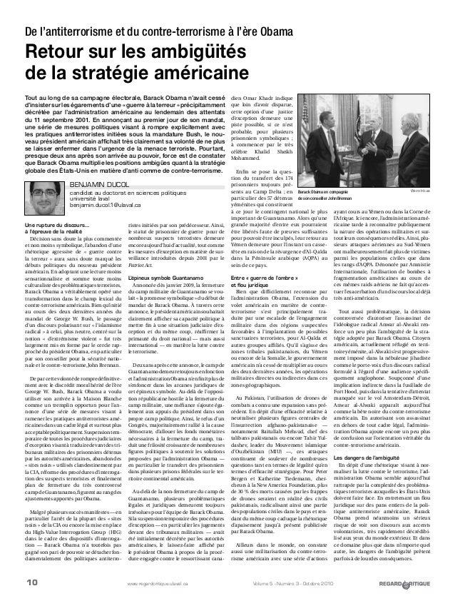 10 Volume 5 - Numéro 3 - Octobre 2010www.regardcritique.ulaval.ca Une rupture du discours... à l'épreuve de la réalité Déc...